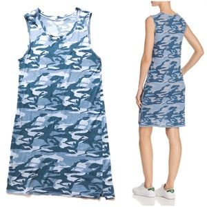 Monrow Camo Tank Dress in Dusty Blue